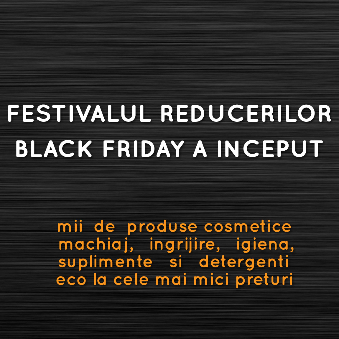 BLACK FRIDAY ORGANIK