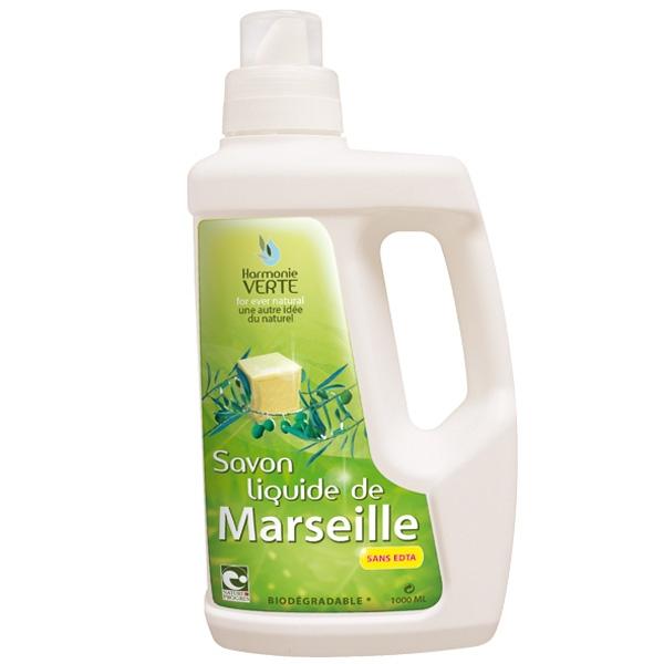 Detergent lichid pentru haine sau curatenie cu sapun de Marsilia, 1L - HARMONIE VERTE