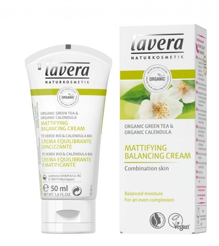Crema matifianta echilibranta ten mixt, cu ceai verde si galbenele, 50 ml - LAVERA