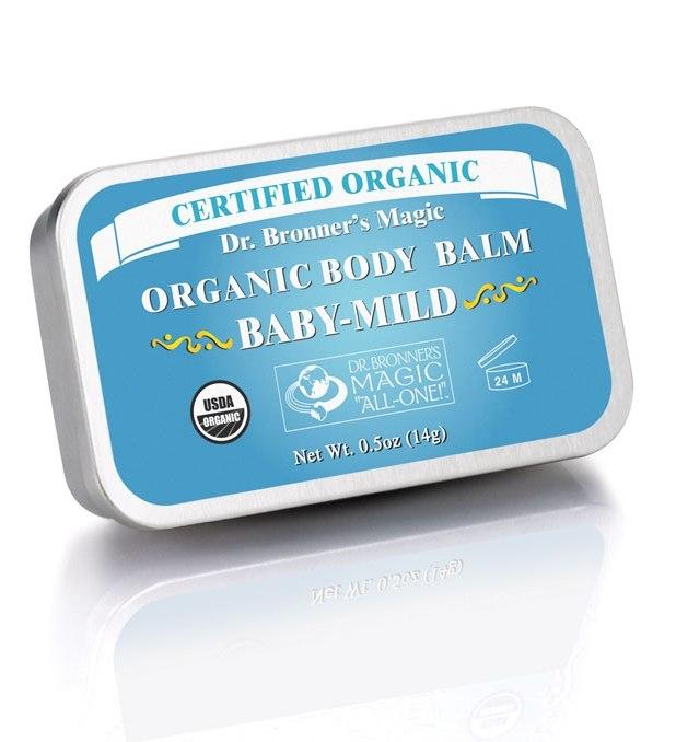 Balsam organic super hidratant Baby, fara parfum, 14 g - DR. BRONNER