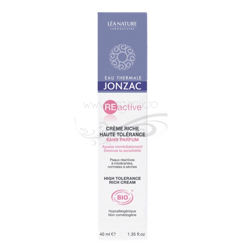 Crema rich ten sensibil si reactiv, normal sau uscat, REactive 40ml - JONZAC