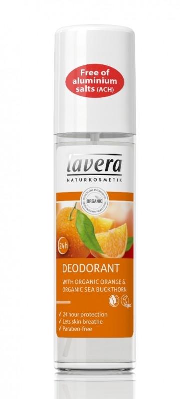 Deodorant spray natural 24h  Portocale si Catina, 75 ml - LAVERA