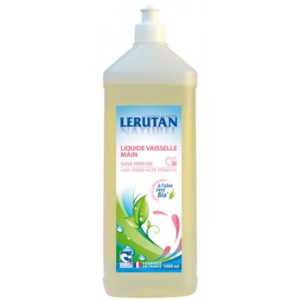 Detergent de vase concentrat, fara parfum, 1L - LERUTAN