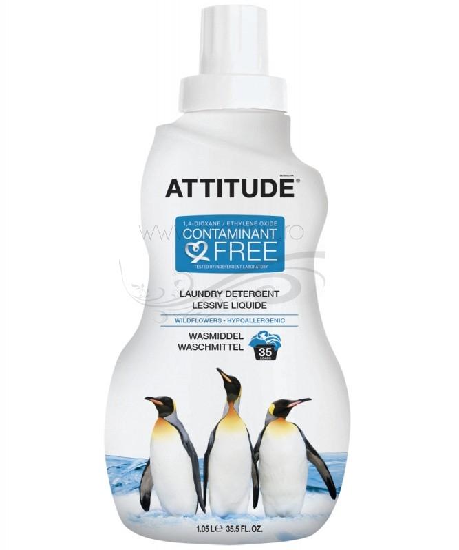 Detergent lichid ECO pentru rufe Wild Flowers, 35 spalari - ATTITUDE