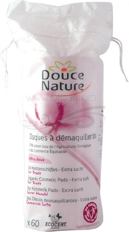 Dischete demachiante din bumbac bio, 80 buc - Douce Nature