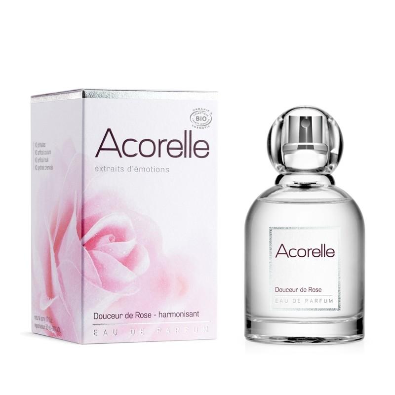 Apa de parfum bio Douceur de Rose, 50 ml - Acorelle