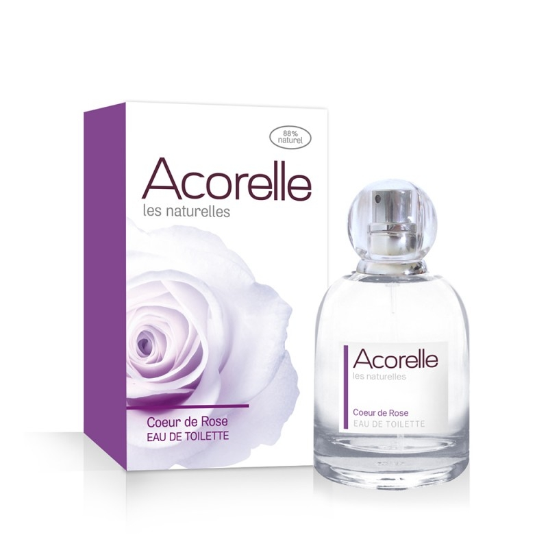 Apa de toaleta naturala Coeur de Rose, 50 ml - Acorelle