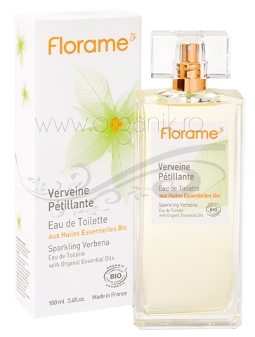 Apa de toaleta bio Sparkling Verbena, 100 ml - Florame