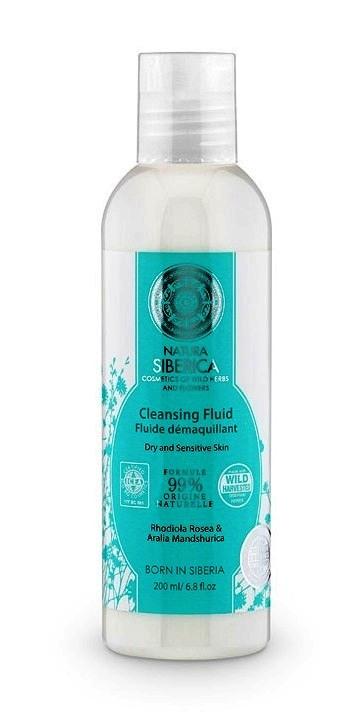 Fluid demachiant pentru ten uscat sau sensibil cu rhodiola, 200 ml - Natura Siberica