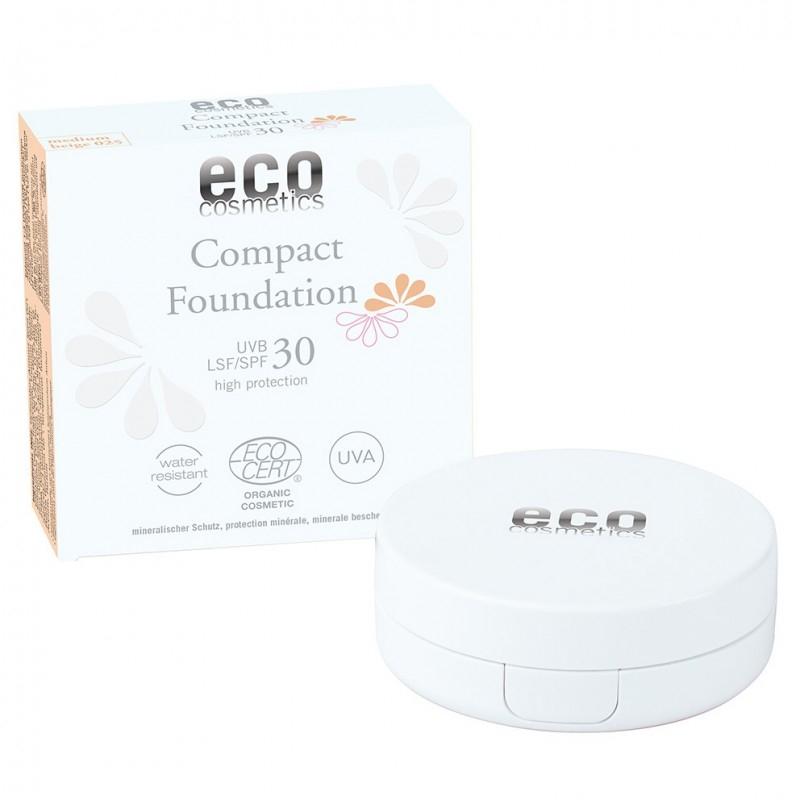 Fond de ten compact cu protectie solara FPS 30 - Eco Cosmetics