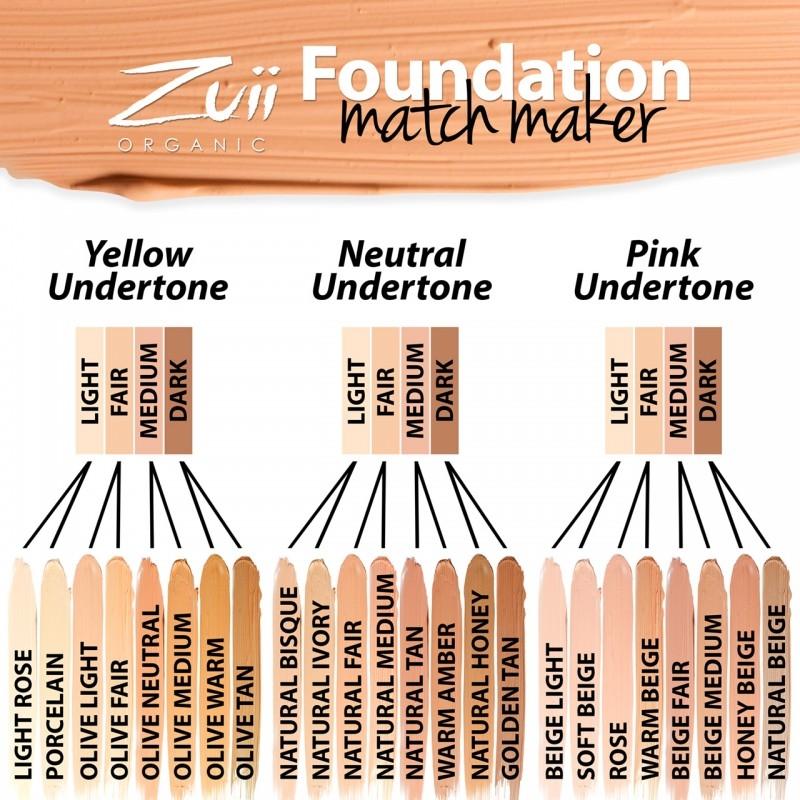 Fond de ten organic cu ingrediente florale, Natural Beige - ZUII Organic