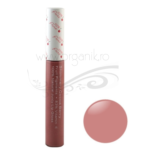 Luciu de buze Shimmery Cocoa Berry  - 100 Percent Pure Cosmetics