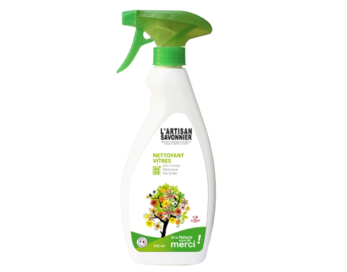 Spray BIO pentru curatat geamuri si oglinzi, 500 ml - ARTISAN SAVONNIER