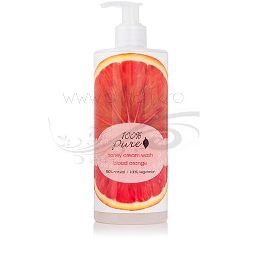 Gel de dus crema cu miere si portocale rosii - 100 Percent Pure Cosmetics