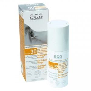 Gel facial transparent cu protectie solara inalta FPS 30 - Eco Cosmetics