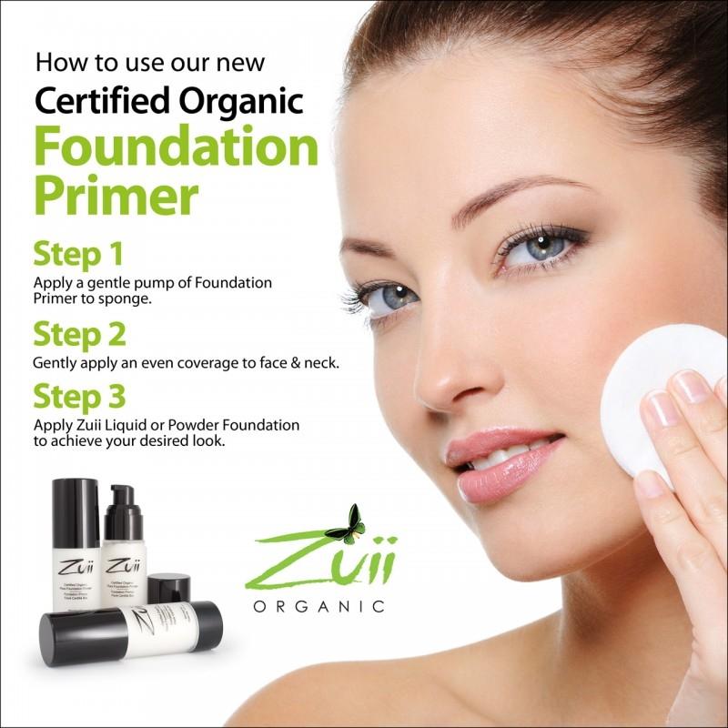 Primer organic pentru fixarea machiajului, cu ingrediente florale - ZUII Organic