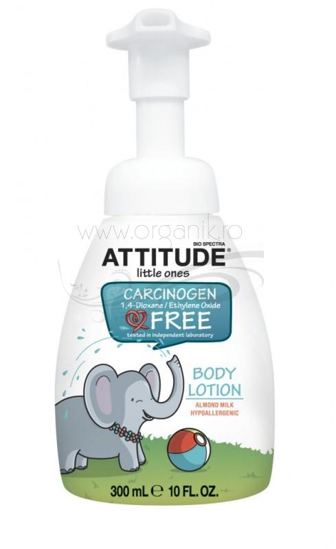 Lotiune de corp pentru bebe cu lapte de migdale Eco-Baby, 300 ml - ATTITUDE