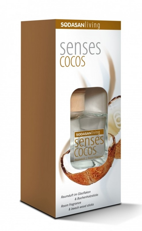 Odorizant bio de camera SENSES Cocos, 200 ml - Sodasan