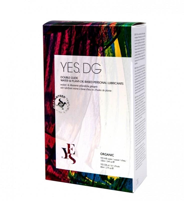 Pachet lubrifianti intimi organici apa si ulei, Double Glide - YES
