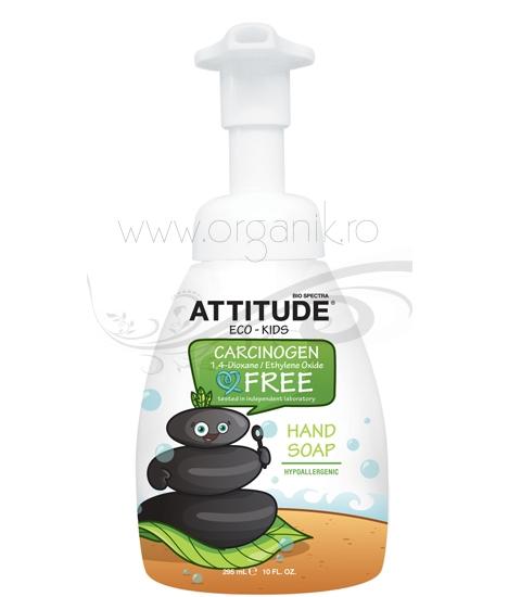 Sapun lichid de maini  pentru copii Eco-Kids, 295 ml - ATTITUDE