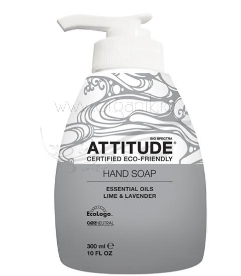Sapun lichid pentru maini cu  lime si lavanda, 300 ml - ATTITUDE