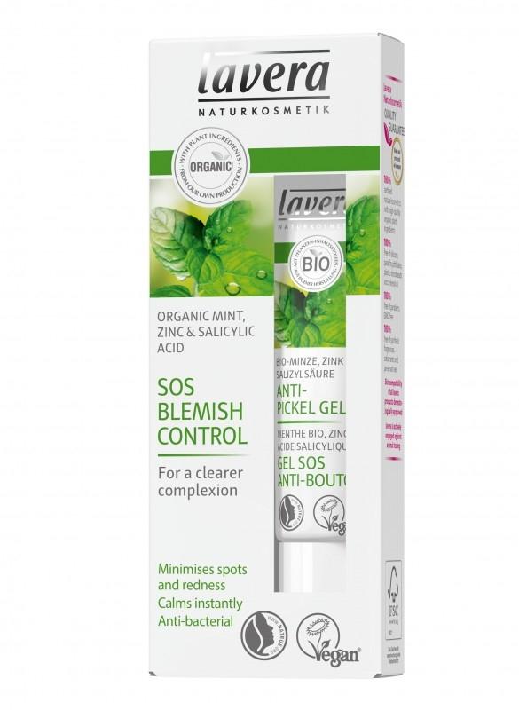 Gel SOS anti acnee cu menta, zinc si acid salicilic natural, 15 ml - LAVERA