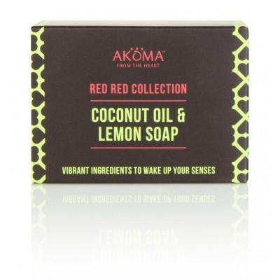 Sapun cu unt de shea, cocos, ulei de palmier si lemongrass - Akoma Skincare