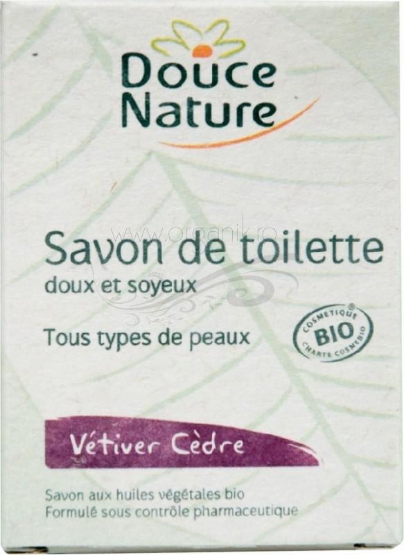 Sapun de toaleta cu cedru si vetiver, 100 g - Douce Nature
