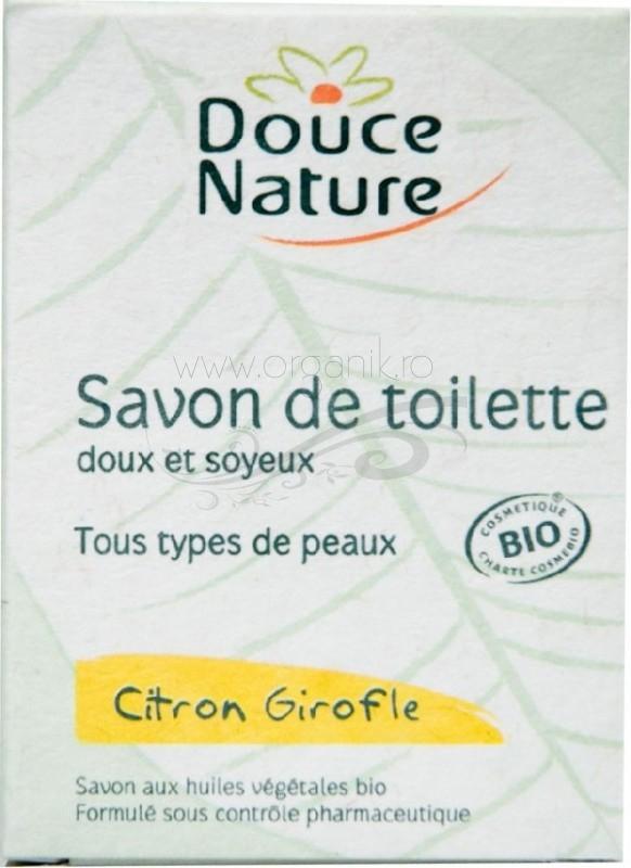 Sapun de toaleta cu lamaie si cuisoare, 100 g - Douce Nature