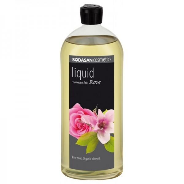 Sapun lichid-gel de dus Romantic Rose (trandafir), 1L - Sodasan