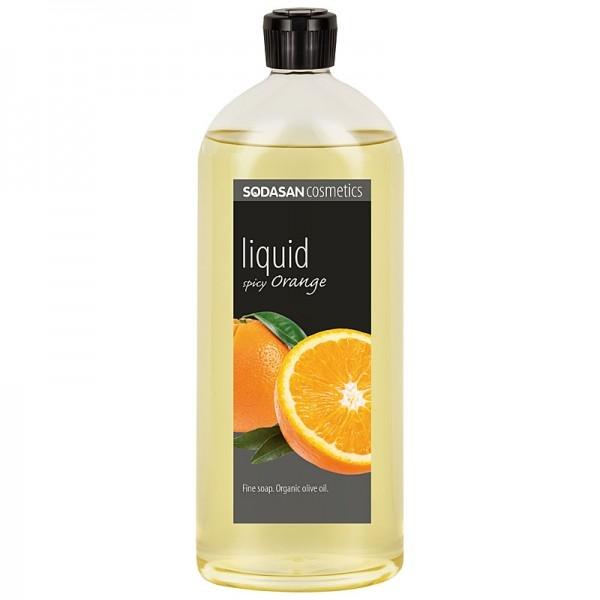 Sapun lichid-gel de dus Spicy Orange (portocala), 1L - Sodasan