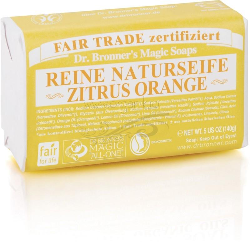 Sapun organic de Castilia, aroma Citrice 140g - DR. BRONNER