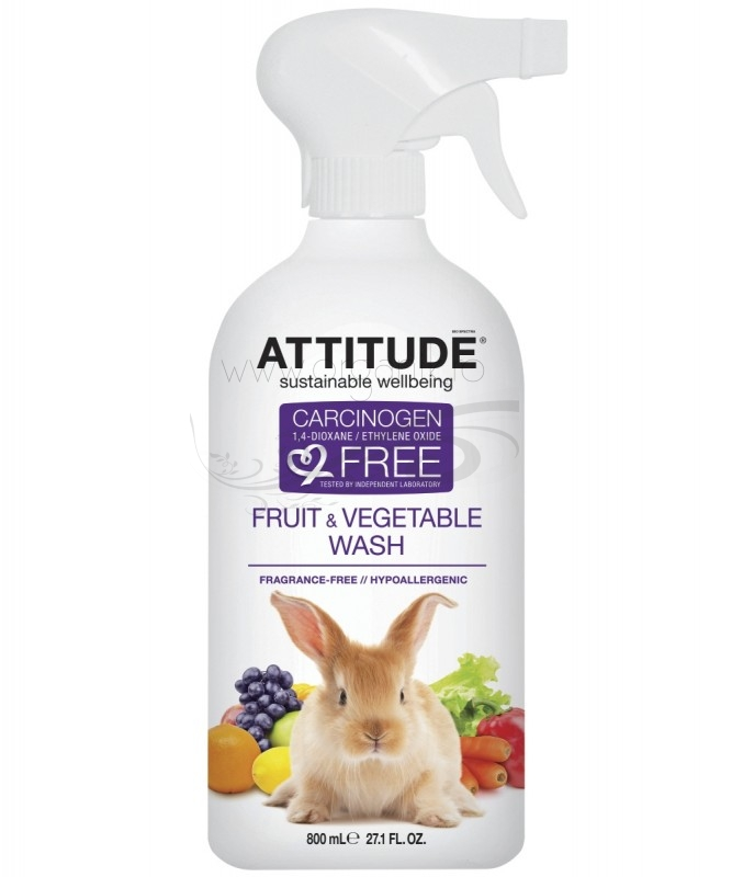 Solutie ecologica pentru curatat fructe si legume, 800 ml - ATTITUDE