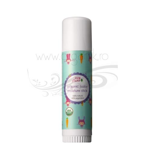 Stick organic hidratant pentru bebelusi si copii, 17 g - 100 Percent Pure Cosmetics
