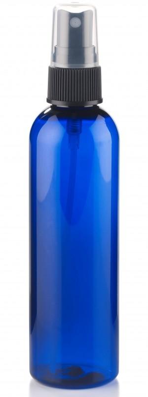 Sticla cu atomizor PET albastru, 125 ml