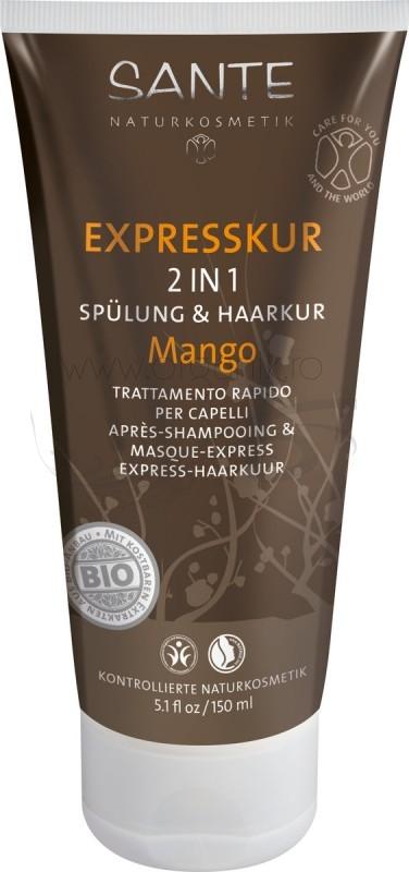 Tratament expres 2 in 1 pentru par, cu mango - SANTE NATURKOSMETIK