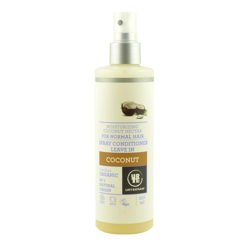Spray balsam leave-in bio pentru par normal cu nectar de cocos 250 ml - URTEKRAM