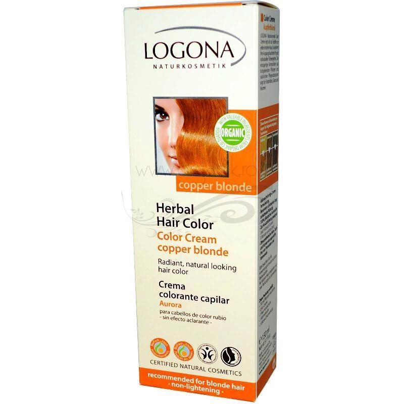 Vopsea de par naturala crema, Copper Blonde - LOGONA