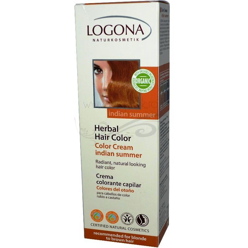 Vopsea de par naturala crema, Indian Summer - LOGONA