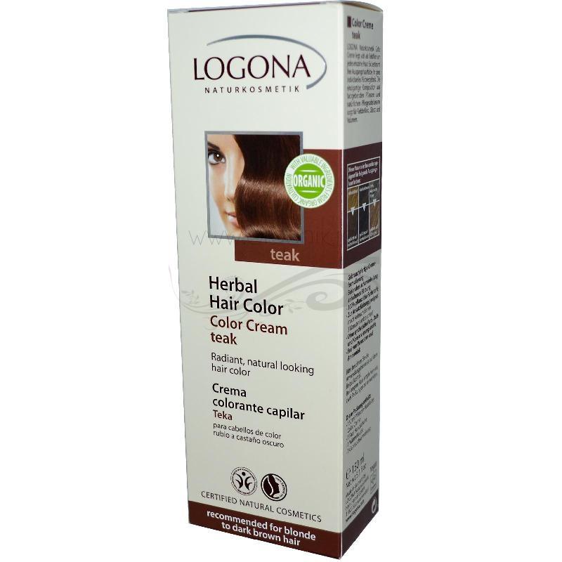 Vopsea de par naturala crema, Teak - LOGONA