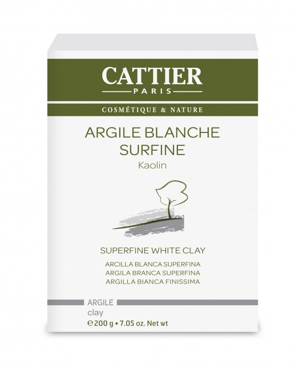 Argila alba caolin super fina, 200 g - CATTIER