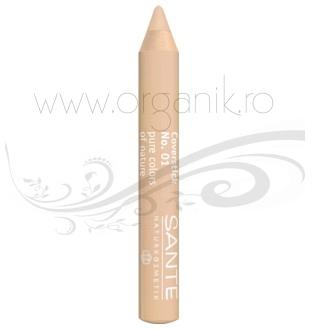 Creion corector pentru imperfectiunile tenului, Light 01 - SANTE NATURKOSMETIK
