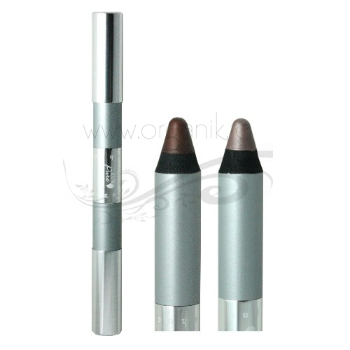 Creion fard pentru ochi cu capat dublu Chocolate/Champagne - 100 Percent Pure Cosmetics