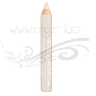 Creion fard sidefat pentru pleoape, White 01 - SANTE NATURKOSMETIK