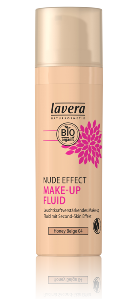 Fond de ten transparent iluminator Nude Effect, Honey Beige 04 - LAVERA