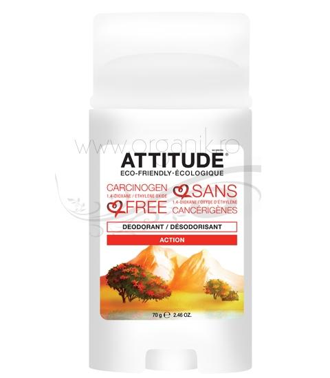 Deodorant stick bio pentru barbati, Action - ATTITUDE