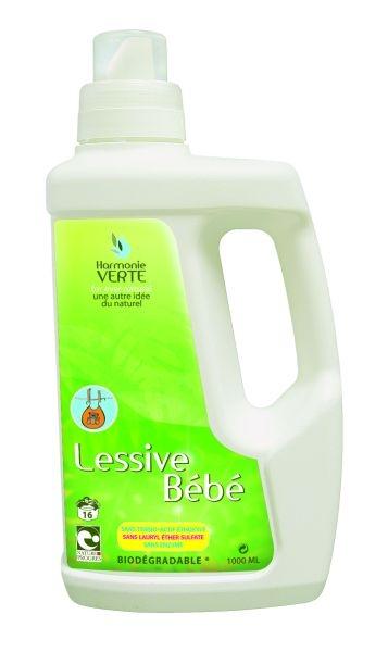 Detergent lichid bio pentru haine BEBE, 1L - HARMONIE VERTE