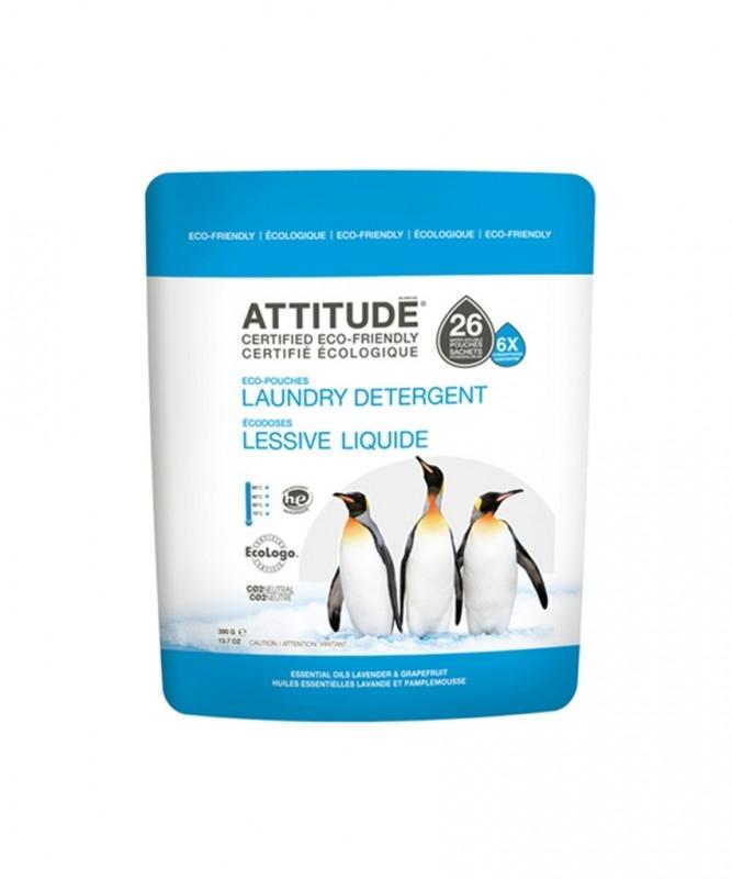 Detergent lichid pernute 6X concentrat, lavanda si grapefruit - ATTITUDE