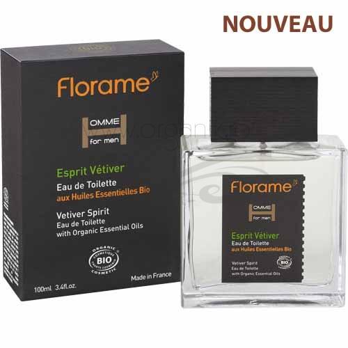 Apa de toaleta bio pentru barbati Esprit Vetiver, 100 ml - Florame