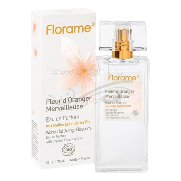 Apa de parfum bio Fleur d'Oranger, 50 ml - Florame